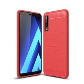 Armor Brushed TPU Samsung Galaxy A7 (2018) Hoesje - Rood