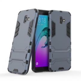 Armor Kickstand Samsung Galaxy J6 Plus Hoesje - Donkerblauw