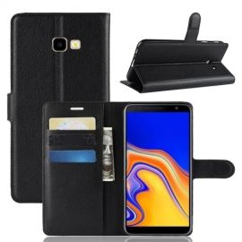 Book Case Samsung Galaxy J4 Plus Hoesje - Zwart