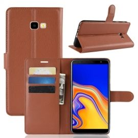 Book Case Samsung Galaxy J4 Plus Hoesje - Bruin