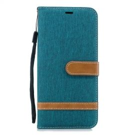 Denim Book Case Samsung Galaxy J4 Plus Hoesje - Groen