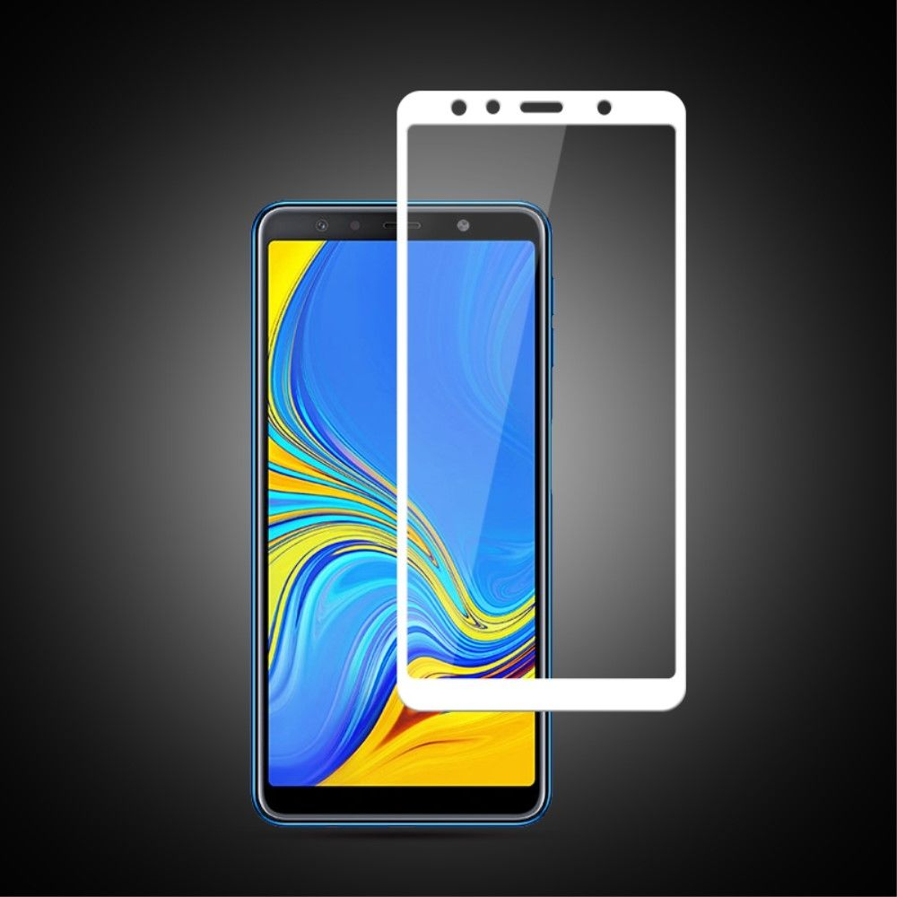 full cover tempered glass samsung galaxy a7 2018 wit. Black Bedroom Furniture Sets. Home Design Ideas
