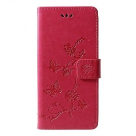 Book Case Bloemen Samsung Galaxy J6 Plus Hoesje - Roze