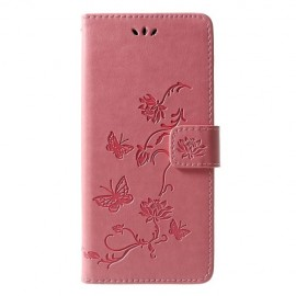 Book Case Bloemen Samsung Galaxy J6 Plus Hoesje - Pink
