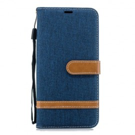 Denim Book Case Samsung Galaxy J6 Plus Hoesje - Blauw