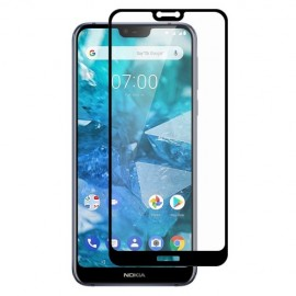 Full Cover Tempered Glass Nokia 7.1 - Zwart