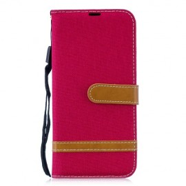 Denim Book Case Huawei P Smart 2019 / Honor 10 Lite Hoesje - Rood