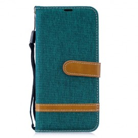 Denim Book Case Huawei P Smart 2019 / Honor 10 Lite Hoesje - Groen