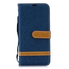 Denim Book Case Huawei P Smart 2019 / Honor 10 Lite Hoesje - Blauw