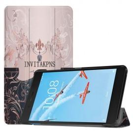 Tri-Fold Book Case Lenovo Tab E7 TB-7104F Hoesje - Invita