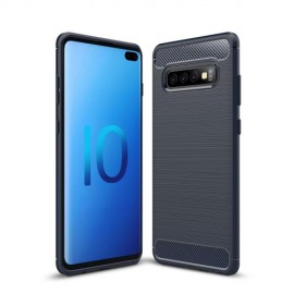 Armor Brushed TPU Samsung Galaxy S10 Plus Hoesje - Blauw