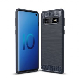 Armor Brushed TPU Samsung Galaxy S10 Hoesje - Blauw
