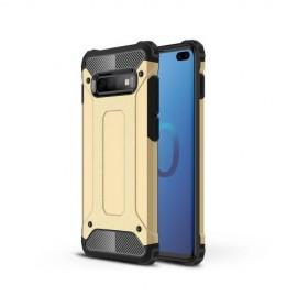 Armor Hybrid Samsung Galaxy S10 Plus Hoesje - Goud