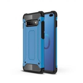 Armor Hybrid Samsung Galaxy S10 Plus Hoesje - Lichtblauw