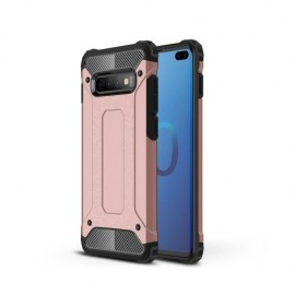 Armor Hybrid Samsung Galaxy S10 Plus Hoesje - Rose Gold