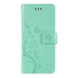 Bloemen Book Case Samsung Galaxy S10 Hoesje - Cyan