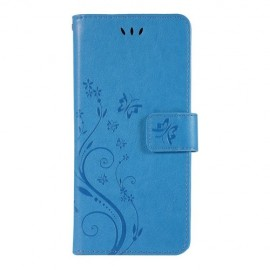 Bloemen Book Case Samsung Galaxy S10 Hoesje - Blauw