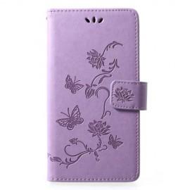 Bloemen Book Case Huawei P30 Lite Hoesje - Paars
