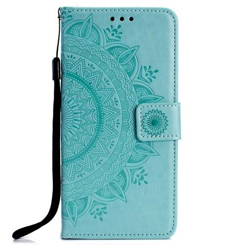 Bloemen Book Case Huawei P Smart 2019 / Honor 10 Lite Hoesje - Cyan