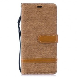 Denim Book Case Samsung Galaxy S10 Plus Hoesje - Khaki