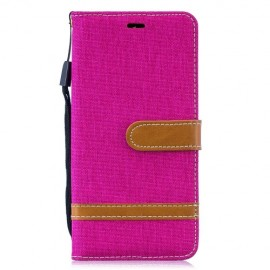 Denim Book Case Samsung Galaxy S10 Hoesje - Roze