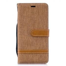 Denim Book Case Samsung Galaxy S10 Hoesje - Khaki