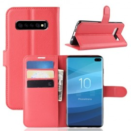 Book Case Samsung Galaxy S10 Plus Hoesje - Rood