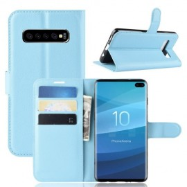 Book Case Samsung Galaxy S10 Plus Hoesje - Lichtblauw