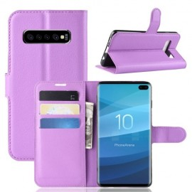 Book Case Samsung Galaxy S10 Plus Hoesje - Paars
