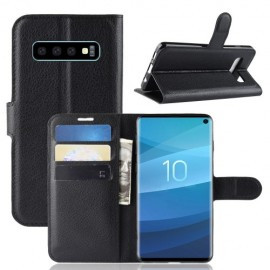 Book Case Samsung Galaxy S10 Hoesje - Zwart