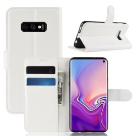 Book Case Samsung Galaxy S10e Hoesje - Wit