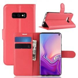Book Case Samsung Galaxy S10e Hoesje - Rood
