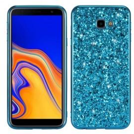 Glitter TPU Samsung Galaxy J4 Plus Hoesje - Blauw