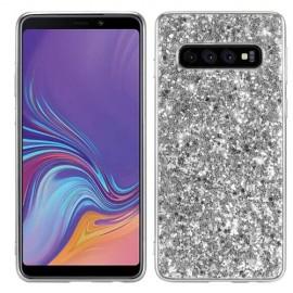 Glitter TPU Samsung Galaxy S10 Hoesje - Zilver