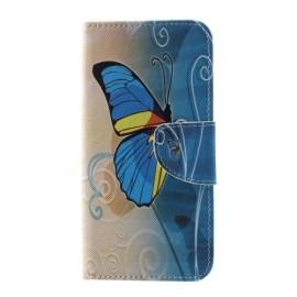 Book Case Samsung Galaxy S10 Hoesje - Blauwe Vlinder