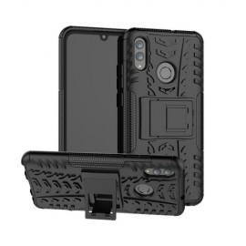 Rugged Kickstand Huawei P Smart (2019) Hoesje - Zwart