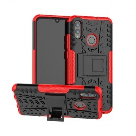 Rugged Kickstand Huawei P Smart (2019) Hoesje - Rood