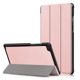 Tri-Fold Book Case Lenovo Tab E8 Hoesje - Rose Gold