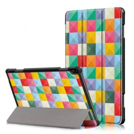 Smart Book Case Lenovo Tab P10 Hoesje - Colour Squares