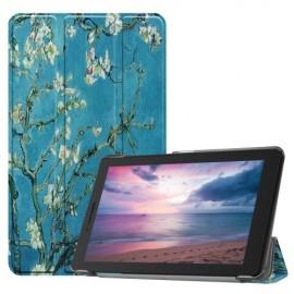 Tri-Fold Book Case Lenovo Tab E8 Hoesje - Bloesem