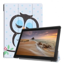Tri-Fold Book Case Lenovo Tab E10 Hoesje - Groene Uil