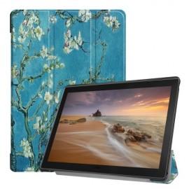 Tri-Fold Book Case Lenovo Tab E10 Hoesje - Bloesem
