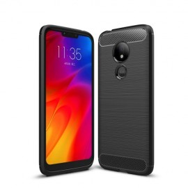 Armor Brushed TPU Motorola G7 Power Hoesje - Zwart