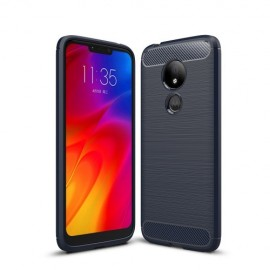 Armor Brushed TPU Motorola G7 Power Hoesje - Blauw