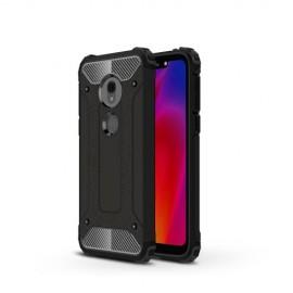 Armor Hybrid Motorola G7 Play Hoesje - Zwart
