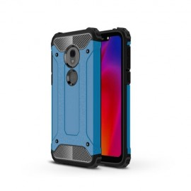 Armor Hybrid Motorola G7 Play Hoesje - Lichtblauw
