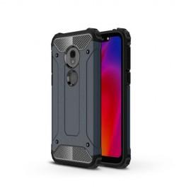 Armor Hybrid Motorola G7 Play Hoesje - Donkerblauw