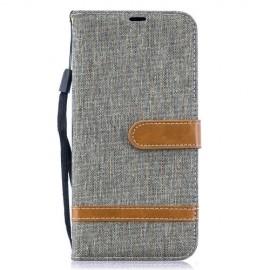 Denim Book Case Samsung Galaxy A50 / A30s Hoesje - Grijs