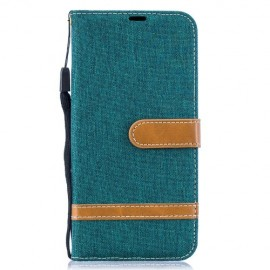 Denim Book Case Samsung Galaxy A50 / A30s Hoesje - Groen