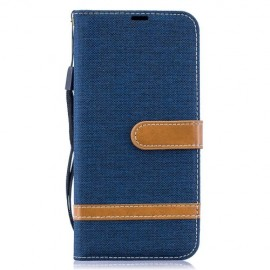 Denim Book Case Samsung Galaxy A50 Hoesje - Blauw